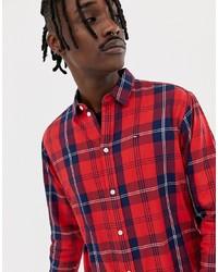 Camisa de manga larga a cuadros roja de Tommy Jeans