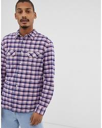 Camisa de manga larga a cuadros rosada de Wrangler