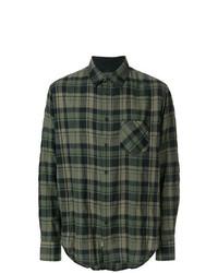 Camisa de manga larga a cuadros verde oscuro de rag & bone
