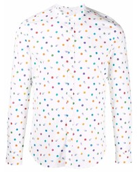 Camisa de manga larga a lunares blanca de Manuel Ritz