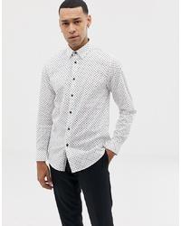 Camisa de manga larga a lunares blanca de Ted Baker