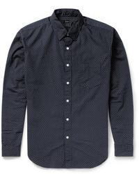 Camisa de manga larga a lunares en azul marino y blanco de J.Crew