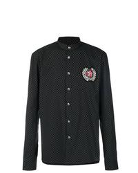 Camisa de manga larga a lunares negra de Balmain