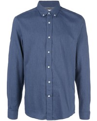 Camisa de manga larga azul marino de Brunello Cucinelli
