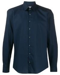 Camisa de manga larga azul marino de Calvin Klein