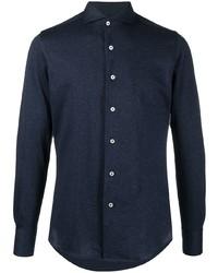 Camisa de manga larga azul marino de Canali