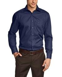Camisa de manga larga azul marino de Casamoda