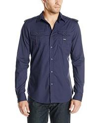 Camisa de manga larga azul marino de Diesel
