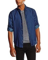 Camisa de manga larga azul marino de Esprit