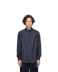 Camisa de manga larga azul marino de Giorgio Armani