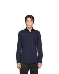 Camisa de manga larga azul marino de Hugo