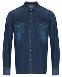 Camisa de manga larga azul marino de Jacob Cohen