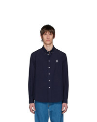 Camisa de manga larga azul marino de Kenzo