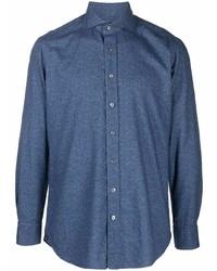 Camisa de manga larga azul marino de Lardini