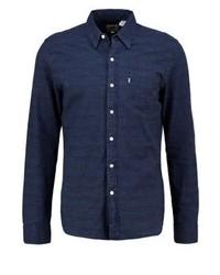 Camisa de Manga Larga Azul Marino