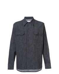 Camisa de manga larga azul marino de Maison Margiela