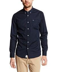 Camisa de manga larga azul marino de Pepe Jeans