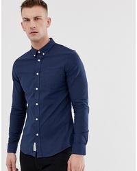Camisa de manga larga azul marino de Pier One