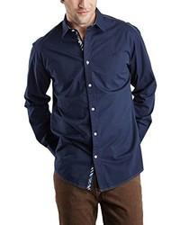 Camisa de manga larga azul marino de Pioneer