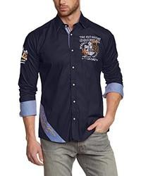 Camisa de manga larga azul marino de Redbridge