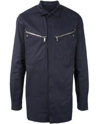 Camisa de manga larga azul marino de Rick Owens