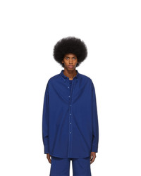 Camisa de manga larga azul marino de Sies Marjan