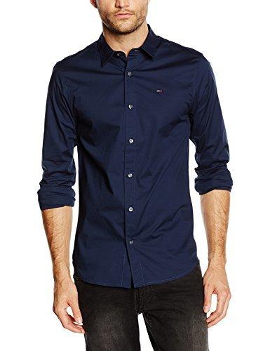 c657fc850f5 ... Camisa de manga larga azul marino de Tommy Hilfiger ...