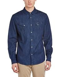 Camisa de manga larga azul marino de Wrangler
