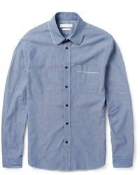 Camisa de Manga Larga Azul de Alexander McQueen