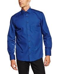 Camisa de manga larga azul de Casamoda