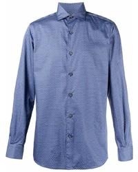 Camisa de manga larga azul de Ermenegildo Zegna
