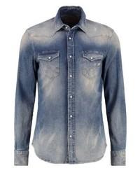 Camisa de Manga Larga Azul de Gas