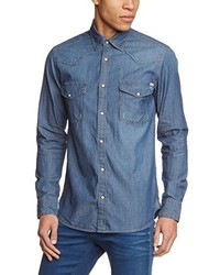 Camisa de manga larga azul de JACK & JONES VINTAGE