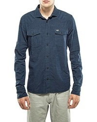 Camisa de manga larga azul de Petrol Industries