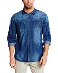 Camisa de manga larga azul de Pioneer