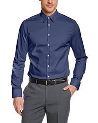 Camisa de manga larga azul de Seidensticker