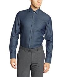 Camisa de Manga Larga Azul de Selected Homme