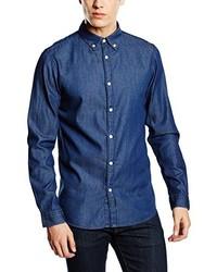 Camisa de Manga Larga Azul de Selected