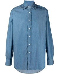 Camisa de manga larga azul de Tagliatore