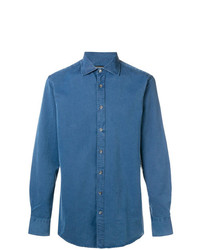 Camisa de Manga Larga Azul de Tiger of Sweden