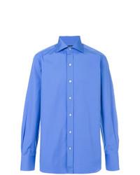 Camisa de Manga Larga Azul de Tom Ford