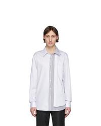 Camisa de manga larga blanca de Alexander McQueen