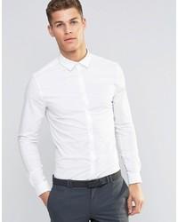Camisa de manga larga blanca de ASOS DESIGN