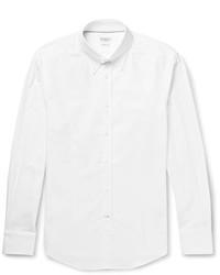 Camisa de manga larga blanca de Brunello Cucinelli