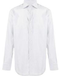 Camisa de manga larga blanca de Canali