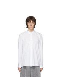 Camisa de manga larga blanca de Comme Des Garcons Homme Plus