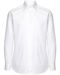 Camisa de manga larga blanca de Ermenegildo Zegna