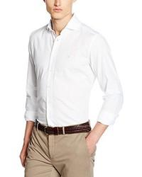 Camisa de manga larga blanca de Hackett London