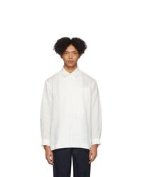 Camisa de manga larga blanca de Issey Miyake Men