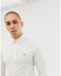 Camisa de manga larga blanca de Lacoste